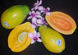 Rainbow & Sunred Papayas, 10 lb box